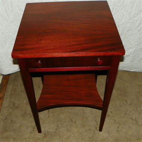 Side Table by Mahogany Side Table End Table With Drawer T155 Ebay