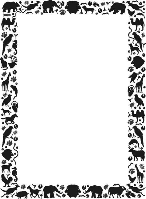 printable poster borders free zebra borders cliparts co