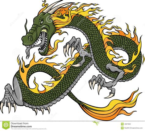 green dragon illustration stock photography image 4007902