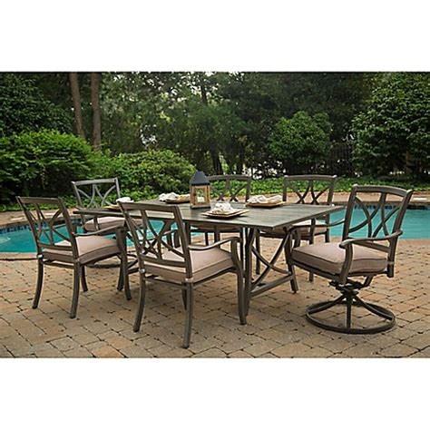 Agio Patio Dining Set Agio Davenport 7 Outdoor Dining Set Bed Bath Beyond