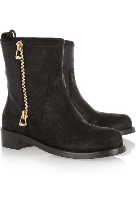 biker boots jimmy choo dondo distressed leather biker boots in black
