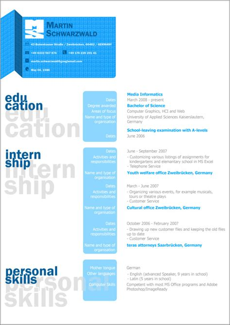 curriculum vitae design 27 exles of impressive resume cv designs dzineblog