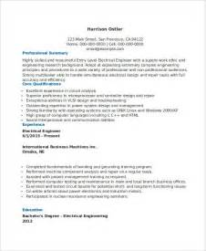 Resume Exles Entry Level Engineering Free Engineering Resume Templates 49 Free Word Pdf