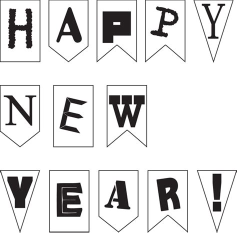 new year clipart black and white new year clipart black white collection