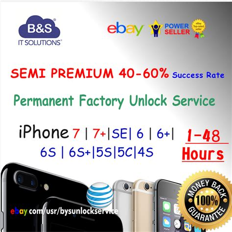 semi premium factory unlock service att iphone