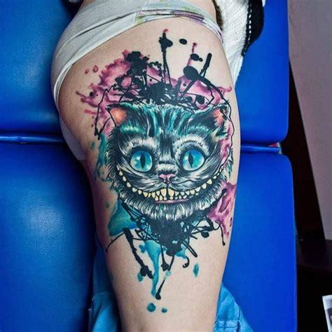 die besten 17 ideen zu cheshire cat tattoo auf pinterest