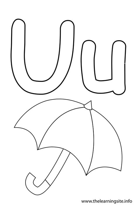Letter U Coloring Pages - GetColoringPages.com U Coloring Page