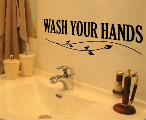 kitchen cabinet decals wash your hands home decoration wall art decals quote