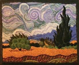 Van Gogh Rug 1522 Best Images About Rug Hooking On Pinterest