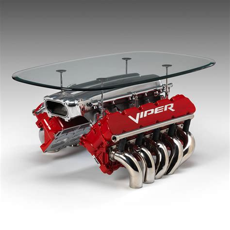 Unique Coffee Table Ideas by Engine Tables Created From Rare Racing Engines