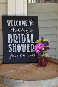 bridal shower signs custom bridal shower sign chalkboard painted by