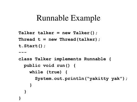 java tutorial runnable ppt threads powerpoint presentation id 230696