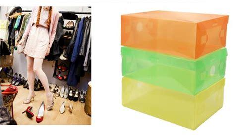 Kotak Sepatu Sandal Transparan jual kotak sepatu warna warni transparan ramayana grosir