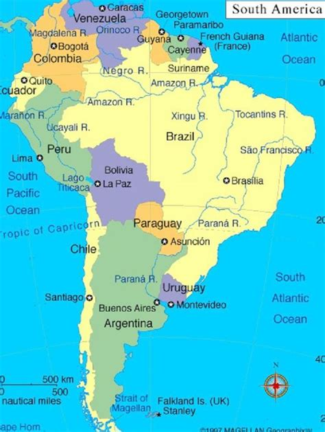 us map and its capitals south america map and capitals map of south america and