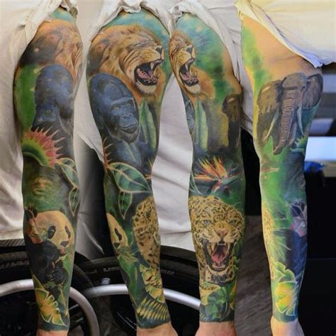 tattoo ideas jungle jungle sleeve designs ideas and meaning tattoos