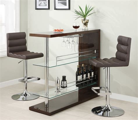 dining room bar furniture eve collection 100166 bar height dining table set
