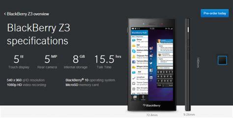 Handphone Blackberry Z3 harga dan spesifikasi blackberry z3 jakarta harga hp