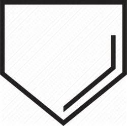 home plate home plate outline clipart no background clipartfest