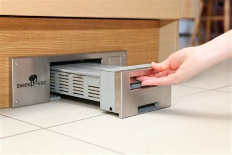 Under Cabinet Vacuum Sweepovac An In Wall Vacuum That Eliminates The Need For