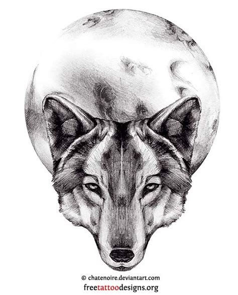 wolf and moon tattoo designs wolf tattoos