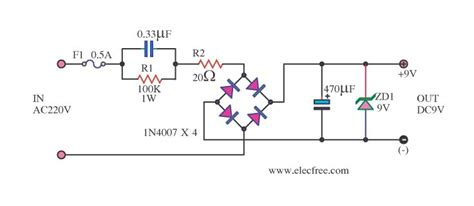 capacitor power supply circuit transformerless power supply circuit eleccircuit