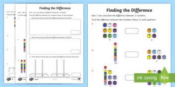 Difference Between One Year And Two Year Mba by Year 2 Finding The Difference Differentiated Worksheet