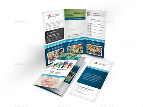 charity brochures  psd ai indesign vector eps