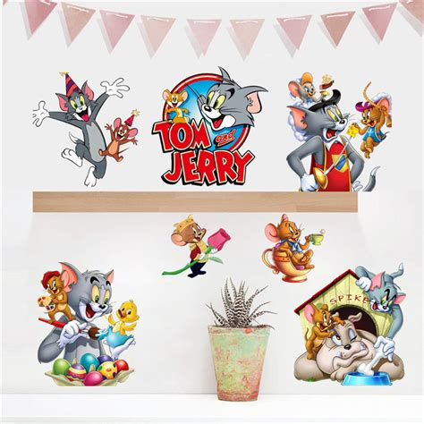 tom and jerry wall stickers popular tom jerry wallpaper buy cheap tom jerry wallpaper