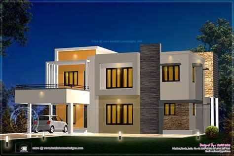 Floor Plan Of 2 Bedroom Flat Floor Plan And Elevation 2277 Sq Ft House Home Kerala Plans