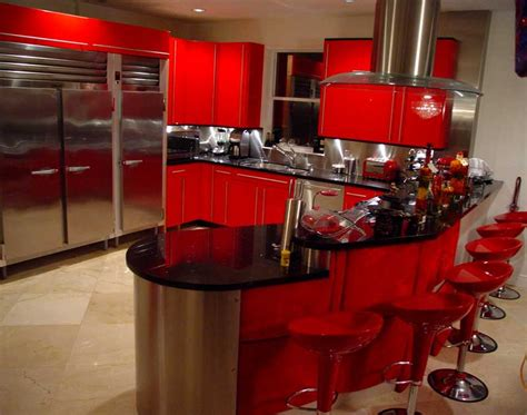 black and red kitchen ideas red kitchen theme ideas for kitchen s modern look actual