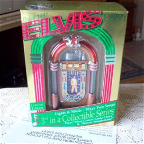 noma ornamotion battery elvis jukebox carlton 1997 ornament lights