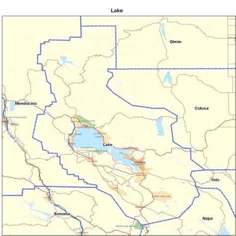 lake county california map lake county ca california maps map of california