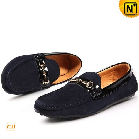 suede leather driving shoes loafers for cw740122