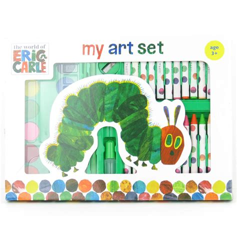 the very arty box 0141370815 very hungry caterpillar art set pencils crayons pastels eric carle gift ebay