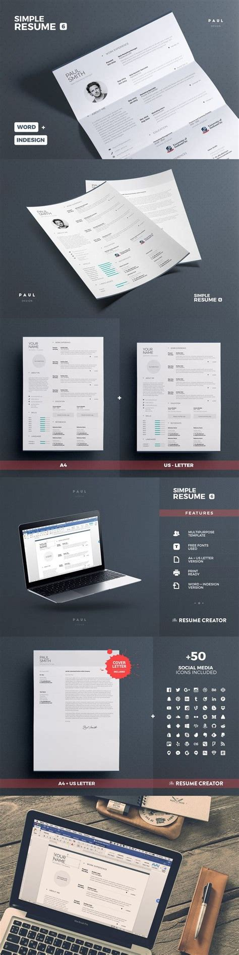 Simple Resume Template Vol 7 by 1000 Ideas About Resume Template On