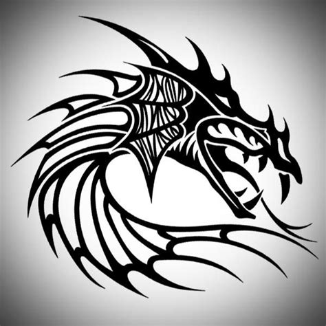 tribal dragon head tattoos tribal designs tattoos