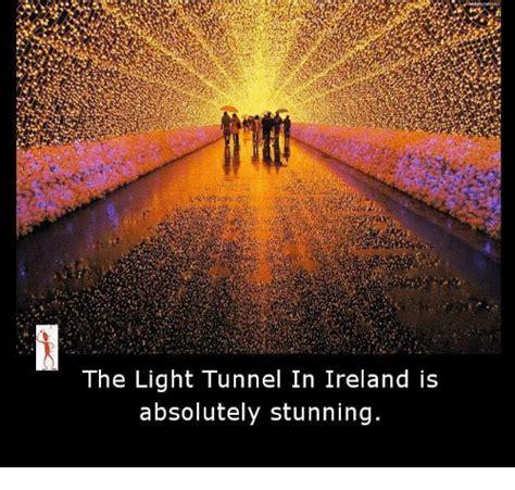 the light tunnel in ireland is absolutely stunning meme