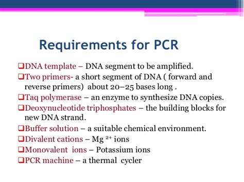 technique of polymerase chain reaction pcr experimental