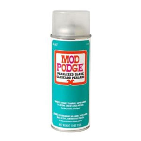 Decoupage Waterproof Sealer - mod podge 11 oz pearlized spray sealer 1449 the home depot