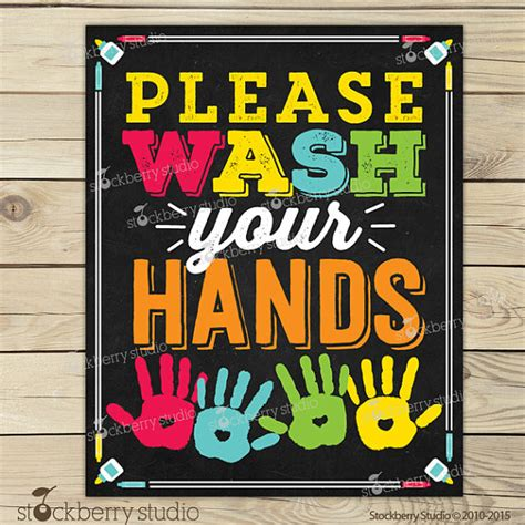 bathroom signs for classroom wash your hands sign printable kids bathroom art wash