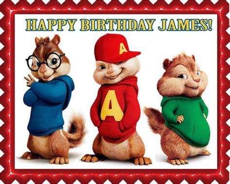 happy birthday alvin chipmunks mp3 download alvin and the chipmunks edible cake topper cupcake