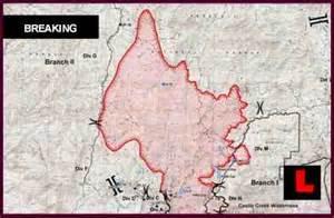 gladiator map 2012 reveals arizona wildfire expansion