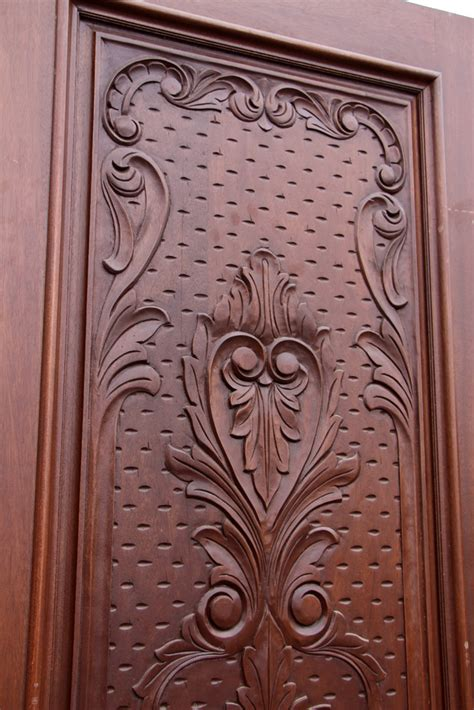 Carved Exterior Doors Carved Exterior Single Doors Mahogany Cl 51