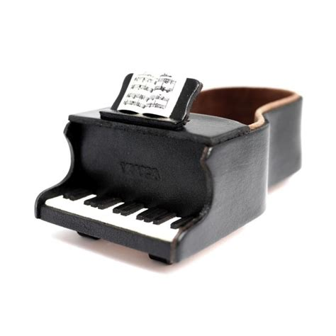 Handmade Piano - piano handmade leather eyeglasses holder stand
