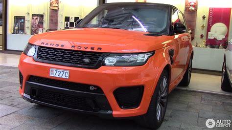 orange range rover svr land rover range rover sport svr 7 januari 2016 autogespot