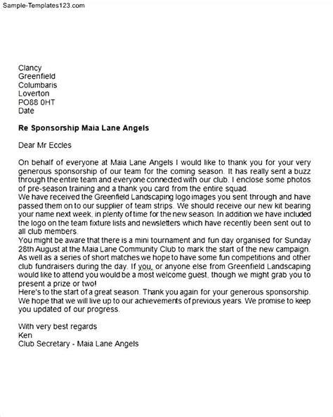 Confirmation Sponsor Thank You Letter Sponsor Thank You Letter Sle Templates