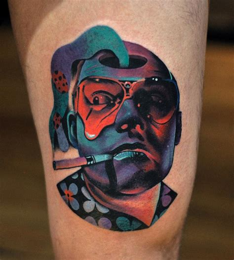 trippy tattoo psychedelic raoul duke played by johnny depp in