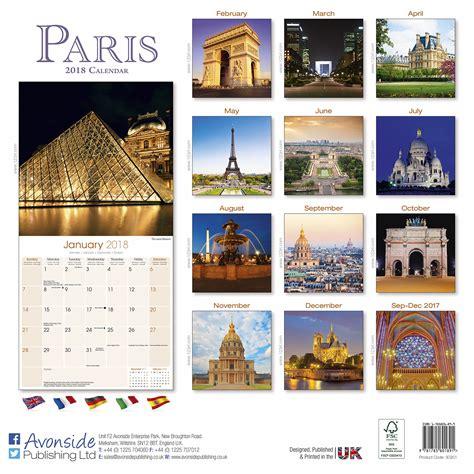 Paris Calendar 2018 30251 18 Travel Places Scenery