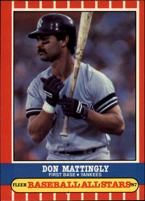 1987 yankees fleer baseball all 26 don mattingly