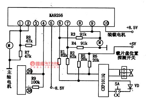 integrated circuit parts ka9256 two way power drive integrated circuit diagram control circuit circuit diagram